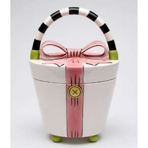 Bow Ceramic Cookie Jar
