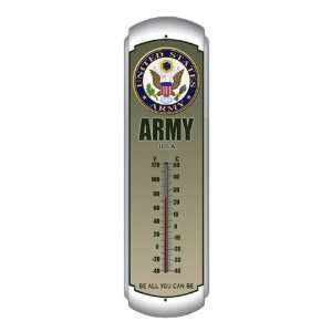 Indoor/Outdoor Thermometer   United States Army Patio