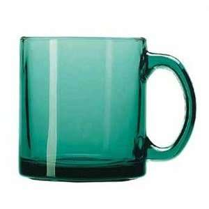 Libbey Cool Green Juniper Glass 13 Oz. Coffee Mug:  Kitchen