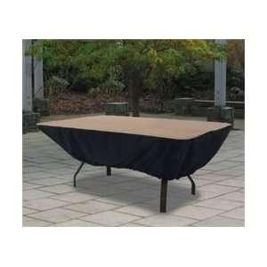 Rectangular Patio Table Cover   Tan and Black Patio, Lawn & Garden