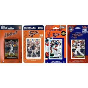 MLB Detroit Tigers 4 Different Licensed Trading Card Team