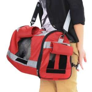 Pet Carrier Dog Pet Bag Handbag Backpack   Red