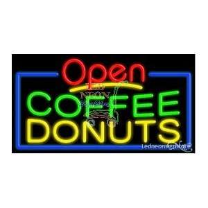 Coffee Donuts Neon Sign 20 Tall x 37 Wide x 3 Deep