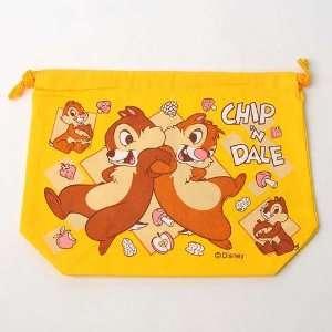 Chip & Dale Drawstring Bag Storage Case Yellow Home
