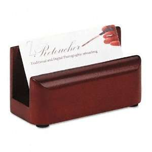 Rolodex  Wood Tones Business Card Holder, Capacity 50 2 1