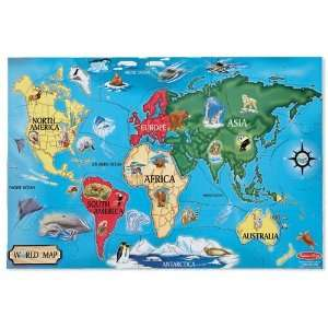 World Map 33pc Floor Puzzle Toys & Games