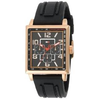 Mens 1710175 Black Leather Strap Watch Tommy Hilfiger Watches