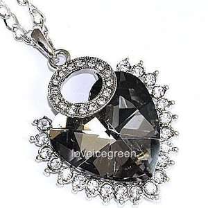 Heart Crystal Glass Pendant Chain Necklace 18k Gp: Everything Else
