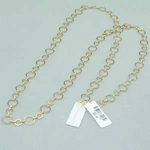 42 Super Long Gold Tone Charter Club Chain Necklace NWT Msrp $28 Wear