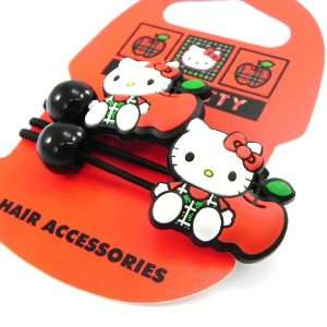 Pair of elastic Hello Kitty black red. Jewelry