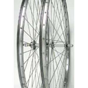 26x1 3/8, Front, B/O, Chrome Steel Wheel Sports