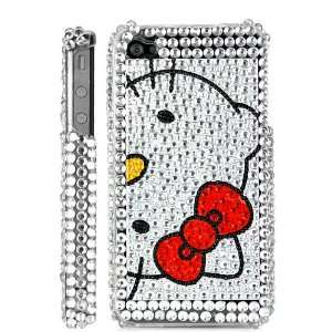 Hello Kitty Diamond Rhinestone Bling Hard Case Back Cover For iPhone 4