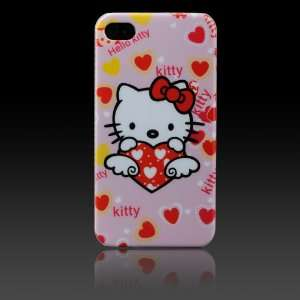 Hello Kitty Pink w Angel Heart Images hard case cover