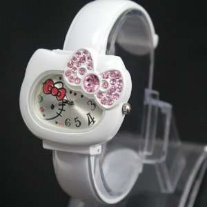 Hello Kitty Bracelet Watch Dk47 wt Quartz and a Hello Kitty Necklace