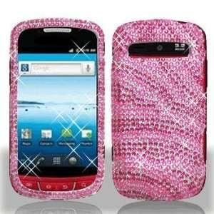 Samsung R720 Admire Full Diamond Hot Pink Pink Zebra Case