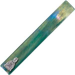 Art Glass Incense Holder Quan Yin Emerald (each): Home