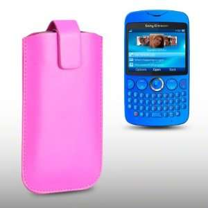 SONY ERICSSON TXT PINK PU LEATHER CASE, BY CELLAPOD CASES