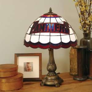 FLORIDA PANTHERS 20 Hand Cut Stained Glass TIFFANY TABLE LAMP