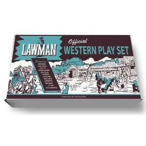 Marx Official Lawman Western Play Set Box Toys & Games