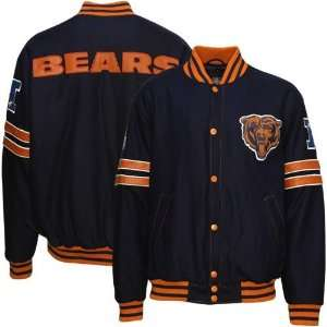 Chicago Bears Navy Blue Wool Varsity Jacket Sports & Outdoors