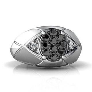 White Gold Oval Genuine Black Onyx Mens Mens Ring Size 8 Jewelry