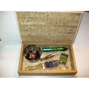 MARIJUANA GIFT BOX PIPE VAPORIZER SCREENS ASHTRAY HOLLOW