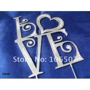 swarovski 4.5 love monogram wedding cake topper  : Home & Kitchen
