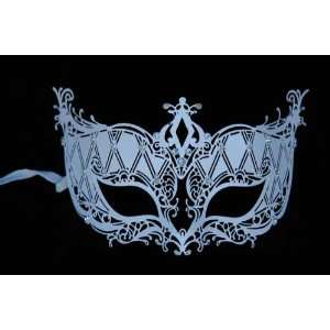 Halloween Masquerade Venetian White Costume Mask with