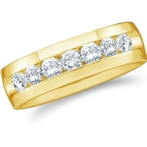 Set Round Cut Mens Diamond Wedding Ring Band 6mm (1/4 cttw) Jewelry