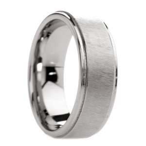 mm Mens Tungsten Carbide Rings Wedding Bands Etched Finish with Step