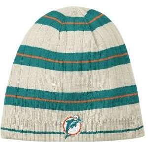 Reebok Miami Dolphins Retro Cuffless Knit Hat One Size