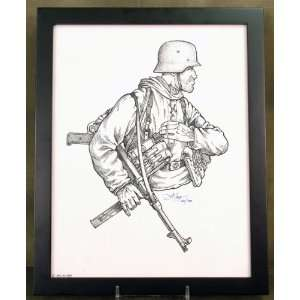 Limited Edition Military Illustrations Signed by Artist German WWII