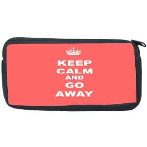 Keep Calm or Go Away   Tropical Pink Color Neoprene Pencil