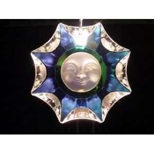 Aurora Borealis Crystal Sun Pendant Necklace   Genuine
