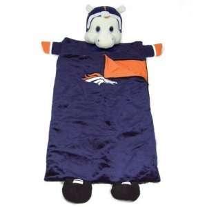 Denver Broncos NFL Plush Team Mascot Sleeping Bag (72)