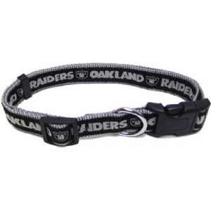 NFL OAKLAND RAIDERS Nylon DOG COLLAR New Licensed Size