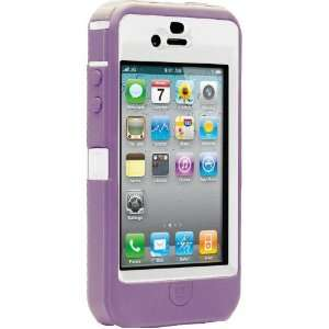 OtterBox Defender Case for iPhone 4 (White/Purple, Fits AT&T iPhone