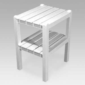 Recycled Plastic Traditional 2 Shelf Side Table Patio, Lawn & Garden