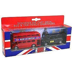 London Bus And Taxi Metal Die Cast Pencil Sharpeners Home & Kitchen