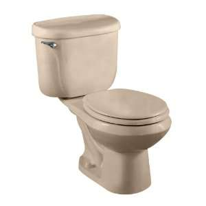 .045 Cadet Pressure Assisted Round Front Two Piece Toilet, Fawn Beige