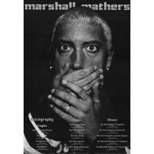 Music   Rap / Hip Hop Posters Eminem   Discography Poster