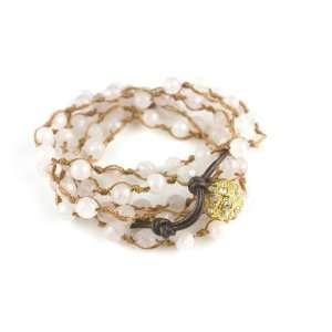 Faceted Rose Quartz Bead Wrap Bracelet Wrap Bracelets