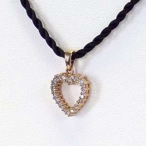 25 Carat 14K Rose Gold Diamond Heart Pendant CoolStyles Jewelry