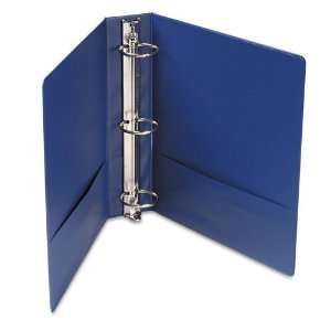 Universal : Suede Finish Vinyl Round Ring Binder, 2in Capacity, Royal