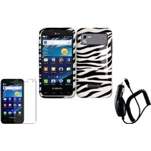 Zebra Hard Case Cover+LCD Screen Protector+Car Charger for Samsung