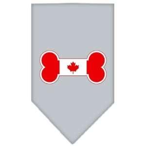 Bone Flag Canadian Screen Print Bandana Grey Large