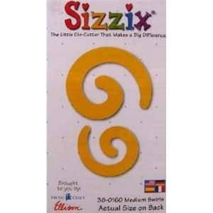sizzix originals medium yellow die SWIRLS #38 0160 Arts