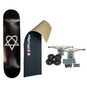ELEMENT Skateboard LOGO Grip HEARTAGRAM BB COMPLETE BLK: