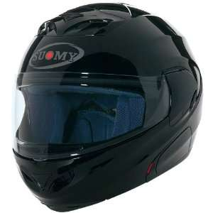 Suomy Solid D20 Modular Sports Bike Motorcycle Helmet   Black / Large