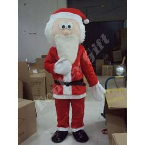 Santa Claus Christmas Adult Cartoon Mascot Costume : Toys & Games